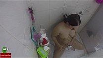 Very hot shower, amazing orgasm