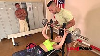 Fitness whore Selvaggia gets Dominated & Double Penetrated at the Gym GP045