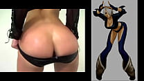 Angel King Of Fighters Jerk Off To A Real Life Ass