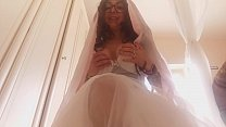 stepson! don t fuck me with my wedding dress'on!