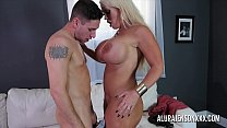 Bokep Sexy blonde mom with huge boobs fucked by a younger guy
