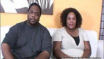 BBW Fluffy ebony couple fucking hard