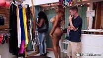 Booty black babe fucks in the bikini shop - Moriah Mills
