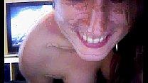 Young girl sucks her boyfriend's cock on webcam