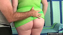 Redheaded Fat Girl Scarlett Raven has Her Fleshy Body and Cunt Massaged