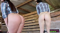 Cowgirl teens ride dick