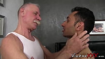 Old fucker drills a cock hungry twink
