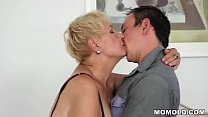 Mature ol lady fucked by young stud