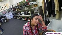 Playful country girl deepthroats and gets her anal pounded by pawn dude in his pawnshop