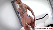 Spizoo - Della Dane take a monster cock in her throat, big tits & bubble butt