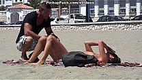 young Spaniard pickup on the beach for $ 37 and fucked