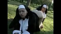 lesbian nuns licking outdoors
