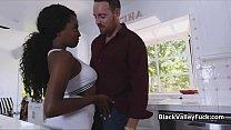 Dark skinned big tit tennis chick on cock