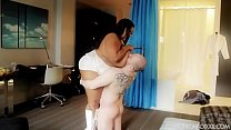 Huge Ebony BBW Smothers and Crushes Slave Boy