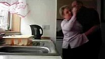 Bokep Mum and dad home alones having fun in the kitchen. Hidden cam