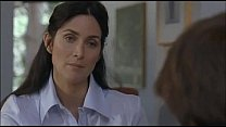 Carrie Anne Moss is fucked by guy who got tempted by her boobs ..