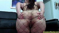 BBW PAWG SAMANTHA IN A SEXY FISHNETBODYSUIT TEASING