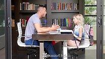 PASSION-HD Tiny blonde Piper Perri fucks her big dick tutor