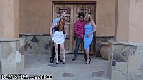 MILF Swingers Swap Husbands and Have DP in the Yard