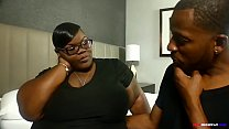 big butt notmyequalxxx shows off her awesome head skills by sucking Don Prince's big black cock on BBWHighway