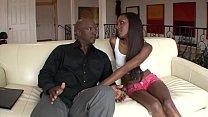 Black horny dude with shaved head drills charming  ebony beauty Jayna Lynn with small perky tits
