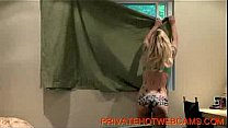 Hot blond teen getting caught by here neighbours while www.privatehotwebcams.com
