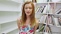 Tiny Redhead Sucks your Dick in the Library POV