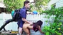 BANGBROS - Horny Priya Price Fucks The Gardener Behind Her Husband's Back!