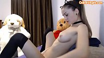 Naughty small tits schoolgirl