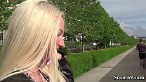 German Scout - Stranger Catch Hot Teen Angela Vital in Public at walking and bring her to Sex without Condom