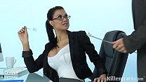 Hot Milf Jasmine Jae is a sexy secretary who loves hard fat cock
