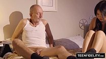 TEENFIDELITY Cindy Starfall Fucks In Front of Old Man