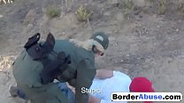 Two young sluts fuck in hot threesome with border patrol agent0p-1
