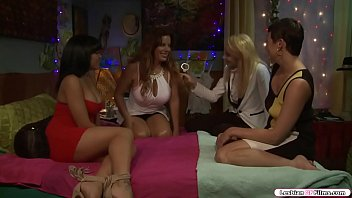 Bokep Busty milf and her daughter are on the bed with their new friends.They let their young friend have sex with her mom.After that,they leave them alone and youngsters start spanking milfs ass.Next is she licks her pussy before she fucks it using a toy.