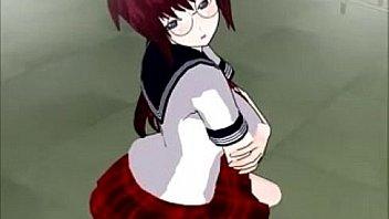 School Girl Red Head - 3DCG