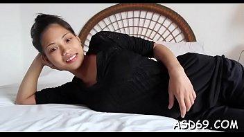 Asian girl goes for a big schlong