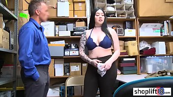 BBW young girl with big ass fucked by a bad policeman