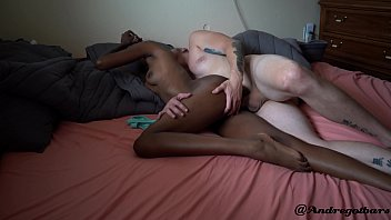 Bokep young black teen having extreme orgasms from white man @andregotbars