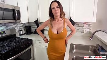 Bokep Sex Big boobed cougar stepmom tasting sons rock hard cock