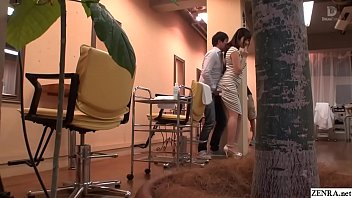 Bokep JAV Mizuna Wakatsuki hair salon covert blowjob and fingering Subtitles