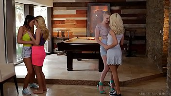 Bokep Lesbian couples swap each other - Riley Nixon and Elsa Jean