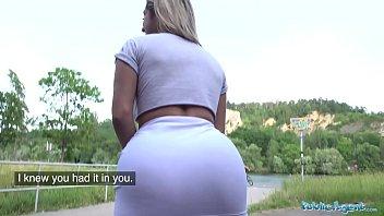 Public Agent Sexy Latino twerking Brazilian pounded outside like a pro