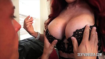 Bokep Mature redhead with big tits teaches her stepson how to properly please a woman