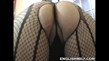 XXX big ass English milf big butt workout in pantyhose
