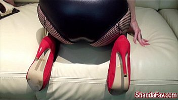 Big Tit Shanda Fay tease her foot boy, making him worship her heels, stockings, & feet. Allowing him to fuck her while kissing her feet till he cums on her toes. Meet Shanda at her Official Site!