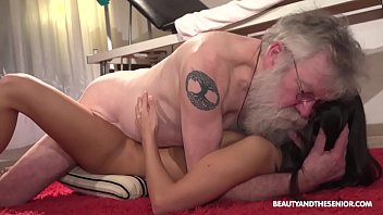 Porno Horny Girl Shows Old Timer How It's Done