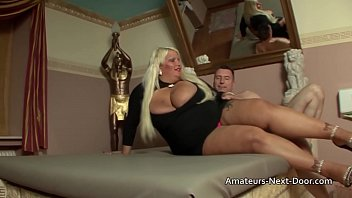 Bokep Big boobed fat blonde BBW gets her smooth shaven pussy fucked