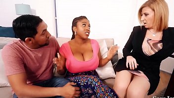 Sara Jay is a sex therapist and is ready to help her new patient Maserati and her boyfriend! He loves big tits and both Sara and Maserati has more then enough for him! See the full video  SaraJay.com