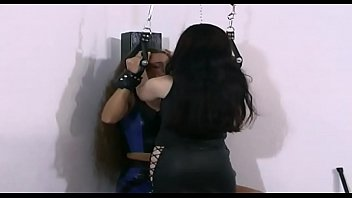 XXX Porn Slave woman tied up and forced to eat a big dildo