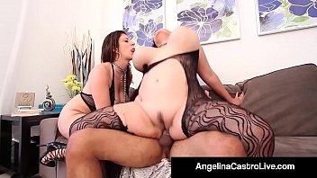 Busty MILF Sara Jay Angelina Castro Threeway!